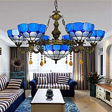 YUNZHI Durable Exquisite Chandeliers Stained Glass