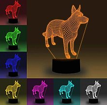 YUNZHI Durable Exquisite Led Illusion Lamp, 3D