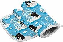 Yutess Cartoon Penguins Create Ice Heat Resistant