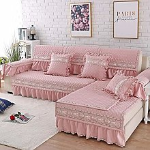 YUTJK Sofa Covers with Skirt, 3 Seater Couch