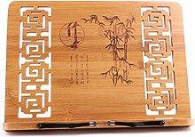 YUXO Book Stand Cookbook Holder Bamboo Foldable