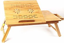 YUYTIN Laptop Desk Bamboo for Bed And Sofa,