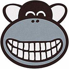YuYzHanG Caricature Monkey Round Non-slip Rug