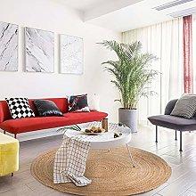 YuYzHanG Rugs Round Indoor Carpet Handmade Modern