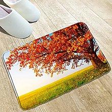 YUZE 40x60 cm Red Leaves Landscape Print Flannel