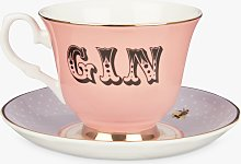 Yvonne Ellen Gin Tea Cup and Saucer, 280ml, Multi