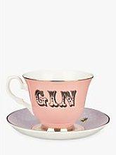Yvonne Ellen Gin Tea Cup and Saucer, 280ml, Multi
