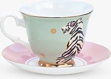 Yvonne Ellen Tiger Cup & Saucer, 280ml, Multi
