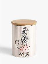 Yvonne Ellen Tiger Striped Fine China Storage Jar