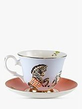 Yvonne Ellen Zebra Tea Cup and Saucer, 280ml, Multi