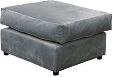 Yvonne Footstool Marlow Home Co. Upholstery: Grey