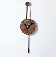 YVX Modern Wooden Pendulum Clock Silent Wall Clock
