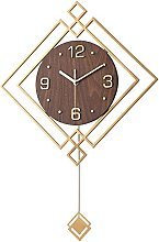 YVX Wooden Silent Clock Chinese Style Wall Clock