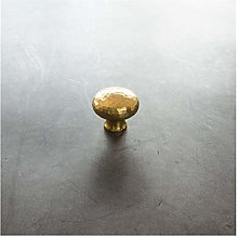 YWF Handles 4 Handmade Hammered Brass Handles,