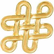 YWF Handles 5 Tangled Brass Handles, Wardrobe