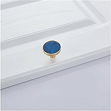 YWF Handles Blue Marble Shell Cabinet Handle