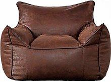 YWSZJ Big Single Leather Sofa Queen King Lazy Sofa
