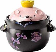 YWSZJ Heat Resistant Ceramic Casserole, Stockpot