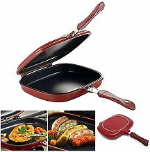 YwTian Double Sided Portable BBQ Grill Pan,