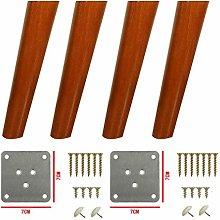 YWTT 4pcs Wood Furniture Legs,Tilt Table