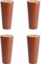 YWTT Furniture Legs 4X Solid Wood Legs for Oak