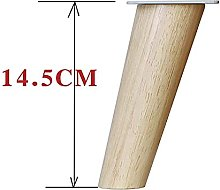 YWTT Furniture Legs Solid Wood Right Angle/Angled