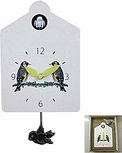 YWTT Wall Clock Bird Alarm Clock Watch Modern