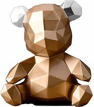 YWYW Bear Desktop Decor Resin Wine Cabinet
