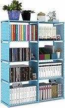 YWYW Bookcase Double Row Bookshelf Non-woven