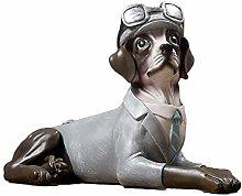 YWYW Creative Dog Sculpture Resin Crafts Replica