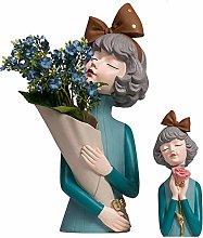 YWYW Creative flower bouquets for girls resin