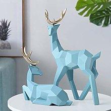 YWYW Modern Geometric Desktop Ornaments Figurine