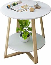 YXB Nordic Simple Coffee Table Solid Wood Round