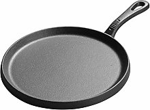 YXBDN 25cm Thickened Cast Iron Griddles Crepe Pan