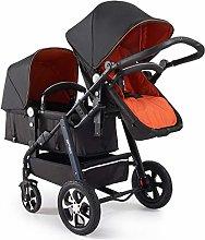 YXCKG Baby Twin Stroller, Folding Tandem Pushchair