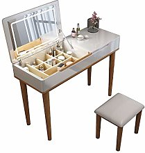 YXF Modern Bedroom Clamshell Dressing Table,Wooden