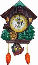 YXHUI Wall Clock Cuckoo House-shaped Wall Clock