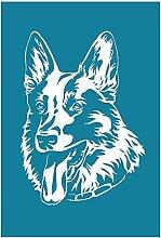 Yxinghai Alsatian Dog Self Adhesive Silk Screen