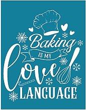 Yxinghai Baking is My Love Language Self-Adhesive