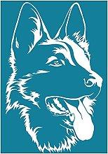 Yxinghai German Shepherd Self Adhesive Silk Screen