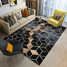 YXISHOME Rugs For Living Room Bedroom Black Gold