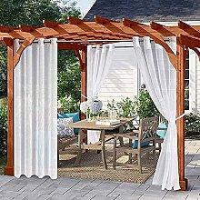 YXJD Sheer Outdoor Curtain for Patio/pergola