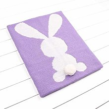 YXR Baby Blankets Knitted Cute 3D Rabbit Newborn