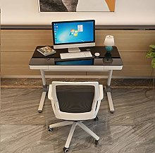 YXWdnz Computer desk Simple and modern tempered
