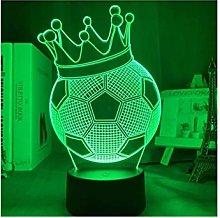 YXX 3D Illusion Night Light Football Crown 7