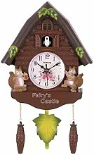 yxx Cuckoo Clock Pendulum Bird House Wall Art Home