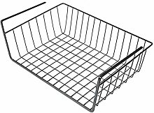 YXX Iron Storage Shelf, Mesh Basket Desk Cable