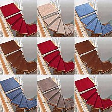yxx Stair Treads For Spiral,Rotating Carpet Turn Left/Right Non Slip Stair Cushion Mats,Stair Pad Step Protection Rug Self-Adhesive Cover 1 Pcs (Color : T-Red, Size : 80x33-12left)