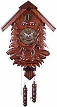 yxx Wooden Hand-carved Cuckoo Clock,Bird Cuckoo