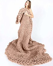 YXYH Breathable Chunky Knit Blanket Hand Made